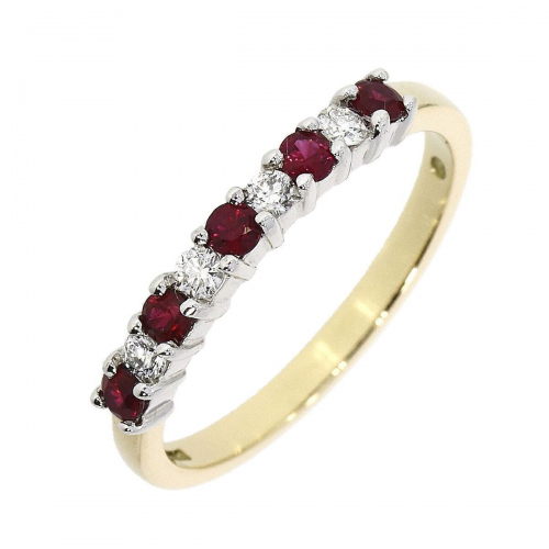 Ruby and diamond 18ct ring
