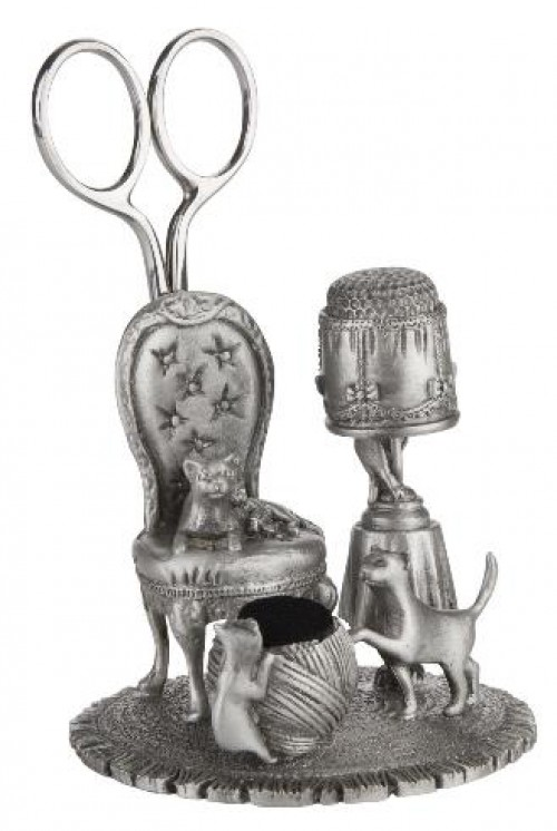 Pewter Sewing Station