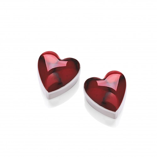 Silver Red Jasper Stud Earrings
