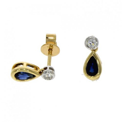 Sapphire & Diamond 18ct earrings