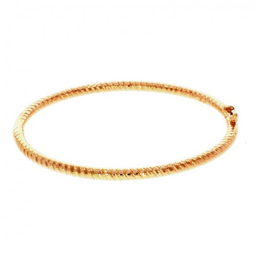 Round Twist Solid 9ct Rose Gold Bangle