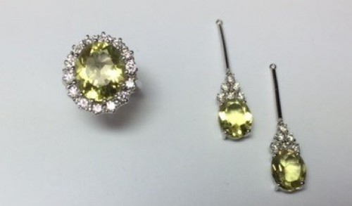 Gild earrings and ring