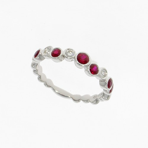 Ruby & Diamond 18ct gold ring
