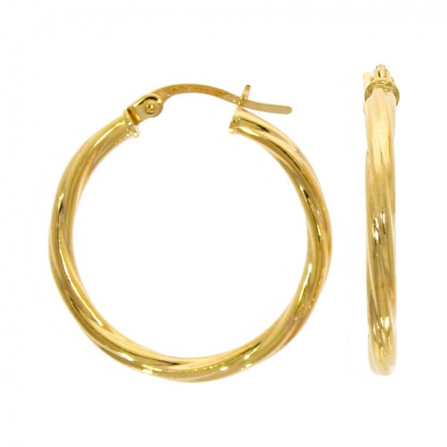 Twisted Hoop 9ct Earrings