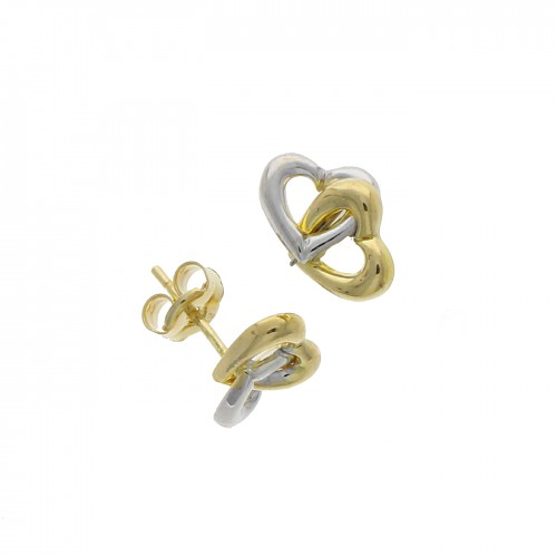 Linked Heart 9ct Stud earrings
