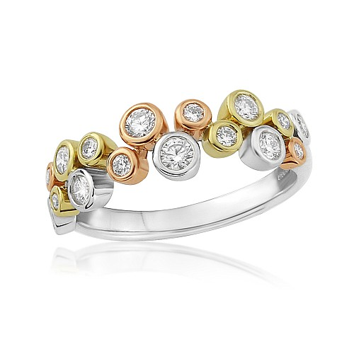 Diamond scatter ring 18ct gold