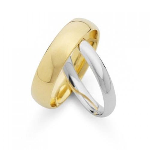 Court Shape Wedding Bands