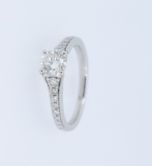Platinum Single Stone Diamond Ring Clement White Jewellers Yeovil