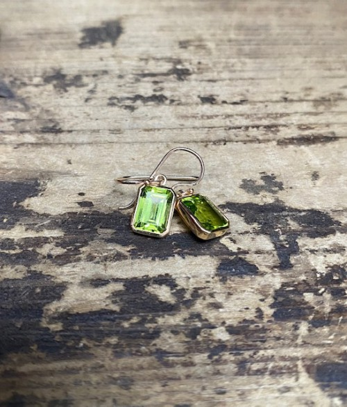 Peridot 9ct Drop Earrings