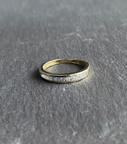 9ct Half Eternity Ring